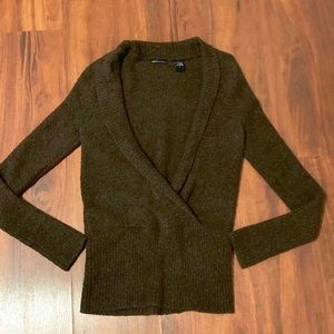 Faux Wrap Front Sweater